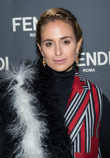Elisabeth von Thurn und Taxis Braided Updo [hair,hairstyle,eyebrow,forehead,long hair,lip,black hair,brown hair,fur,premiere,elisabeth von thurn und taxis,the new york,flagship store,new york,park hyatt,fendi celebrates the opening,fendi flagship store opening celebration dinner]