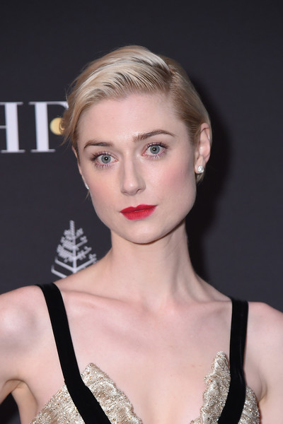 Elizabeth Debicki Short Side Part [hair,face,lip,hairstyle,eyebrow,beauty,blond,fashion model,chin,skin,arrivals,elizabeth debicki,four seasons hotel,toronto,canada,hollywood foreign press association and instyle party,the hollywood foreign press association,toronto international film festival]
