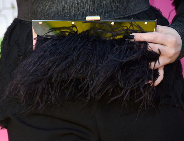 Elizabeth Gillies Feathered Clutch