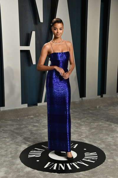 Ella Balinska Form-Fitting Dress [cobalt blue,blue,fashion model,dress,clothing,shoulder,fashion,electric blue,gown,haute couture,radhika jones - arrivals,radhika jones,ella balinska,beverly hills,california,wallis annenberg center for the performing arts,oscar party,vanity fair,radhika jones,wallis annenberg center for the performing arts,oscar party,vanity fair,f9,celebrity,academy awards,actor,party,photograph]