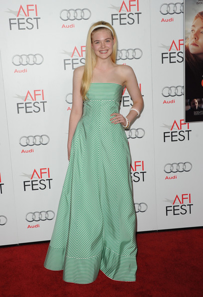 Elle Fanning Evening Dress