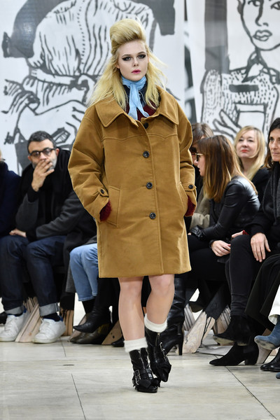 Elle Fanning Wool Coat