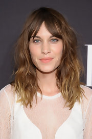 Medium Wavy Cut with Bangs