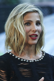 Elsa Pataky looked cool and chic with her messy wavy bob at the Elle Gourmet Awards.