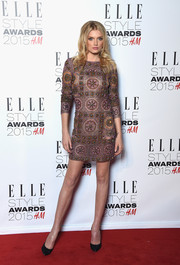 For the Elle Style Awards, Lily Donaldson donned an Emilio Pucci beaded mini dress that looked like a classical work of art.
