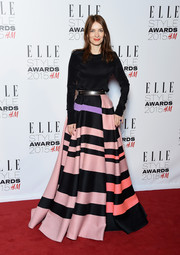Roksanda Ilincic attended the Elle Style Awards wearing a black crewneck sweater from her Pre-Fall 2015 collection.