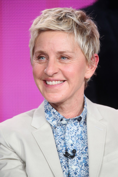 Ellen DeGeneres Boy Cut [one big happy,photograph,hair,face,chin,forehead,hairstyle,blond,smile,photography,wrinkle,official,ellen degeneres,host,television presenter,portion,langham hotel,nbc,winter tca tour,panel discussion,ellen degeneres,the ellen degeneres show,chat show,celebrity,dory,image,peoples choice award for favorite talk show host,finding nemo,photograph,television presenter]