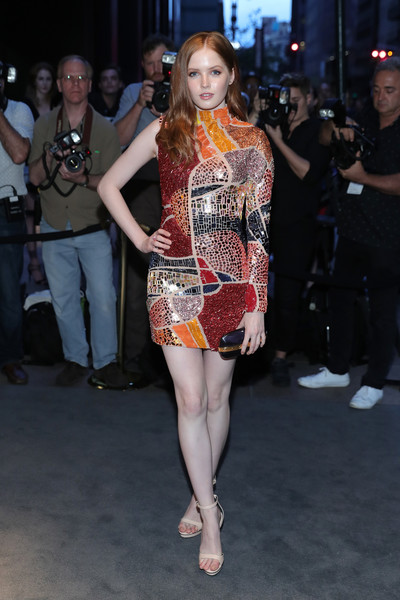 Ellie Bamber Beaded Dress