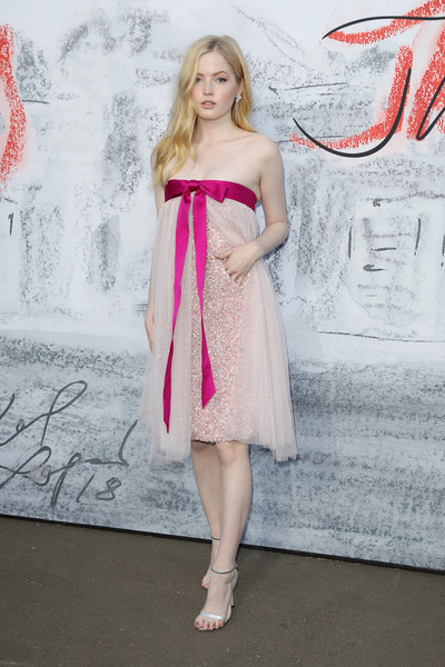 Ellie Bamber Strapless Dress