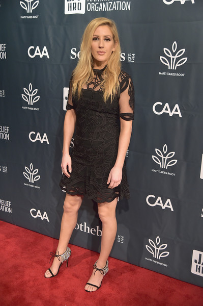 Ellie Goulding Embroidered Dress
