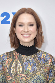 Ellie Kemper looked effortlessly stylish with her subtly wavy bob while discussing her new book, 'My Squirrel Days.'