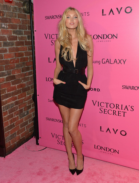 Elsa Hosk Little Black Dress