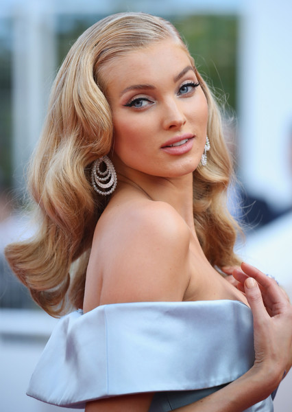 Elsa Hosk Retro Hairstyle [the beguiled,hair,blond,face,hairstyle,long hair,beauty,lady,skin,shoulder,chin,red carpet arrivals,elsa hosk,screening,cannes,france,cannes film festival,palais des festivals]