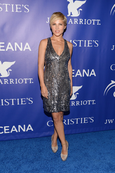 Elsa Pataky Beaded Dress
