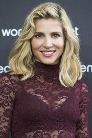 Elsa Pataky wore her hair down to her shoulders in high-volume waves at the launch of Women'Secret's new campaign.