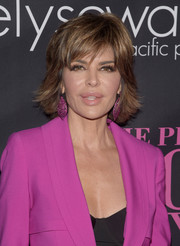 Lisa Rinna stuck to her signature layered razor cut when she attended the Pink Party.