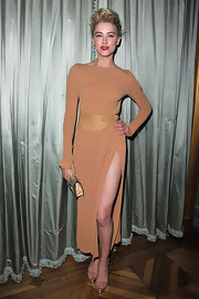 Amber Heard dazzled at the Michael Kors dinner in the designer's mirrored fall 2011 platform sandals.