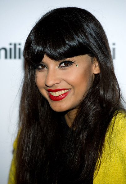 Jameela's long hair was styled with body and plenty of shine at a party in London.