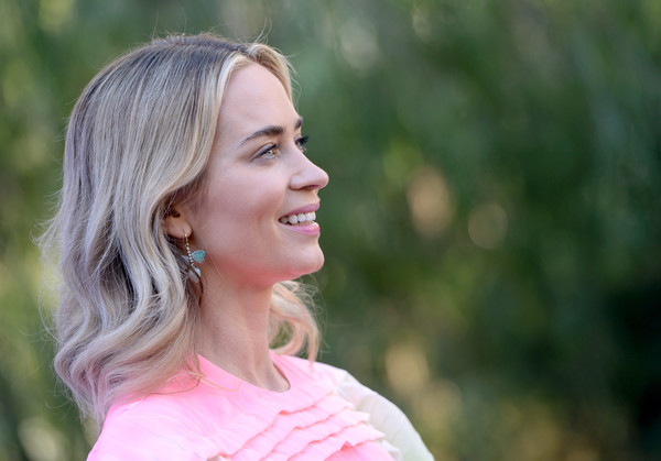 Emily Blunt Medium Wavy Cut [hair,people in nature,face,photograph,blond,facial expression,skin,pink,lady,beauty,directors,emily blunt,creative impact awards,palm springs,california,variety,brunch,palm springs international film festival - variety]
