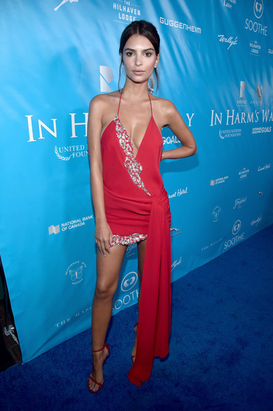Emily Ratajkowski Halter Dress
