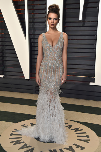 Emily Ratajkowski Mermaid Gown