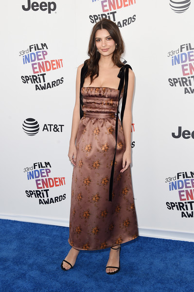 Emily Ratajkowski Print Dress