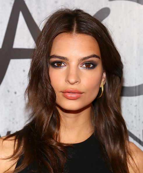 Emily Ratajkowski Smoky Eyes [hair,face,eyebrow,hairstyle,lip,forehead,brown hair,beauty,chin,long hair,nyc,tao downtown grand opening,emily ratajkowski]