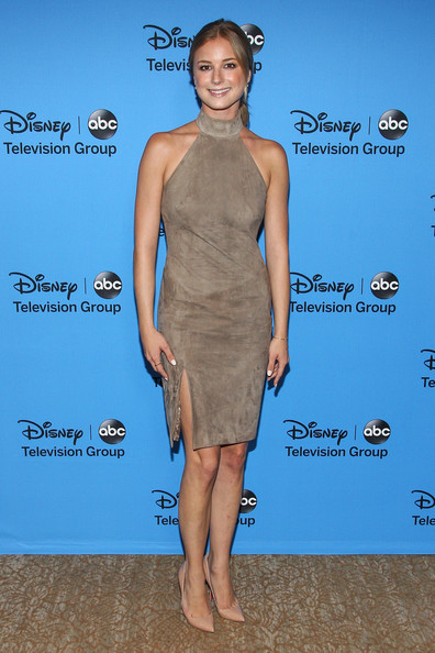 Emily VanCamp Halter Dress