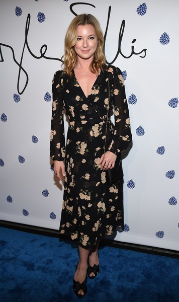 Emily VanCamp Wrap Dress