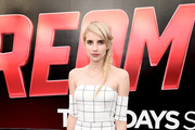 Emma Roberts Off-the-Shoulder Dress