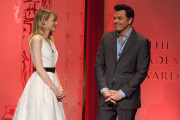 Emma Stone Seth MacFarlane 85th Academy Awards Nominations Announcement