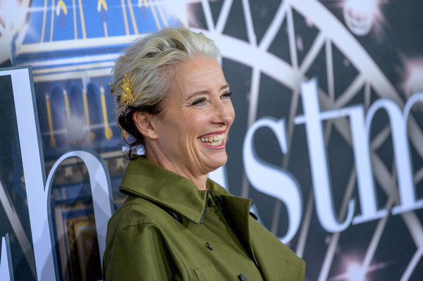 Emma Thompson Bobby Pinned Updo [last christmas,hair,facial expression,blond,lady,human,smile,premiere,emma thompson,new york,amc lincoln square theater,premiere,new york premiere]