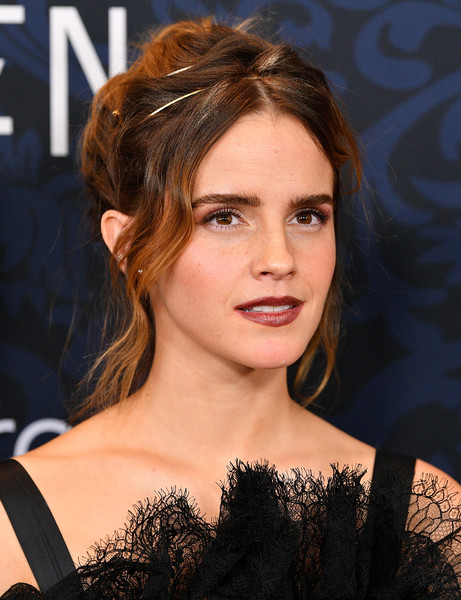 Emma Watson Loose Bun [harry potter,image,hair,face,hairstyle,eyebrow,chin,beauty,brown hair,lip,long hair,layered hair,emma watson,actor,hair,hair,hairstyle,celebrity,museum of modern art,little women world premiere,emma watson,little women,harry potter,hermione granger,actor,celebrity,image,taylor swift,harry potter and the deathly hallows \u2013 part 2]