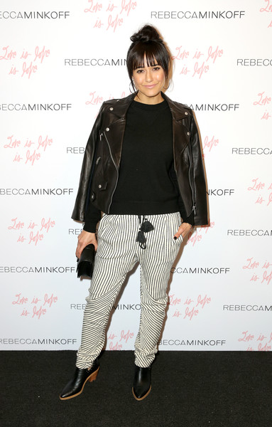 Emmanuelle Chriqui Leather Jacket