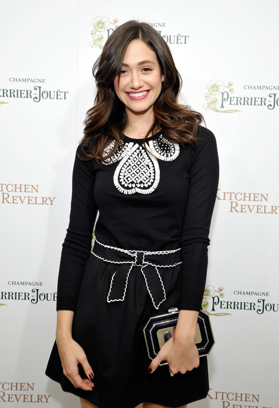 Emmy Rossum Hard Case Clutch