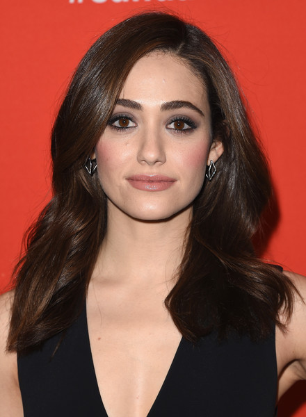 Emmy Rossum Smoky Eyes [a futile and stupid gesture,hair,eyebrow,beauty,chin,hairstyle,fashion model,long hair,forehead,layered hair,black hair,emmy rossum,utah,park city,eccles center theatre,sundance film festival,premiere]