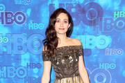 Emmy Rossum Off-the-Shoulder Dress