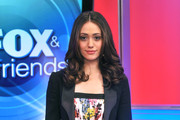Emmy Rossum Is Stylish in a Floral Frock