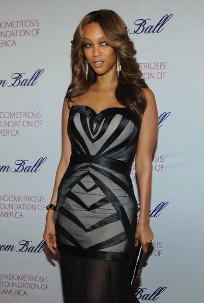 More Pics of Tyra Banks Feathered Flip (1 of 18) - Tyra Banks Lookbook - StyleBistro
