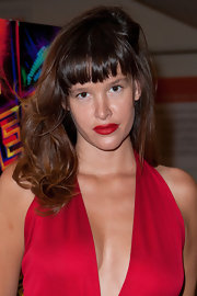 Paz de la Huerta attended the 'Enter the Void' screening wearing tousled waves and blunt bangs.