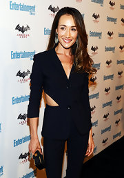 Maggie Q opted for a cut-out suit at Comic-Con. She paired the look with soft long curls.