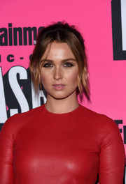 Camilla Luddington rocked a messy, center-parted updo at the Entertainment Weekly Comic-Con party.