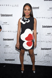 Lyndie Greenwood looked adorably mod in a Gauri & Nainika mini dress featuring an oversized floral print during the Entertainment Weekly SAG nominees celebration.