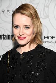 Claire Foy looked sweet wearing this short, flippy 'do at the Entertainment Weekly SAG nominees celebration.