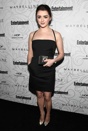 Maisie Williams looked very mature and stylish in a black square-neck halter dress by Milly at the Entertainment Weekly SAG nominees celebration.