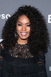 Angela Bassett gave us hair envy with her voluminous curls at the Entertainment Weekly SAG nominees party.