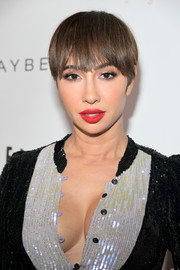 Jackie Cruz attended Entertainment Weekly's SAG Awards nominees celebration wearing her signature bowl cut.