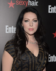 Laura Prepon styled her raven locks with feathery waves for the Entertainment Weekly SAG Awards nominee celebration.
