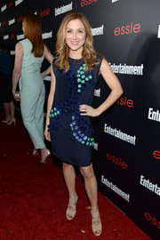 Sasha Alexander was chic and feminine in a flower-appliqued blue dress at the Entertainment Weekly SAG nominees celebration.