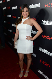 Jenna Ushkowitz looked sassy in a body-con white halter dress by Fransiska Fox at the Entertainment Weekly SAG nominees celebration.